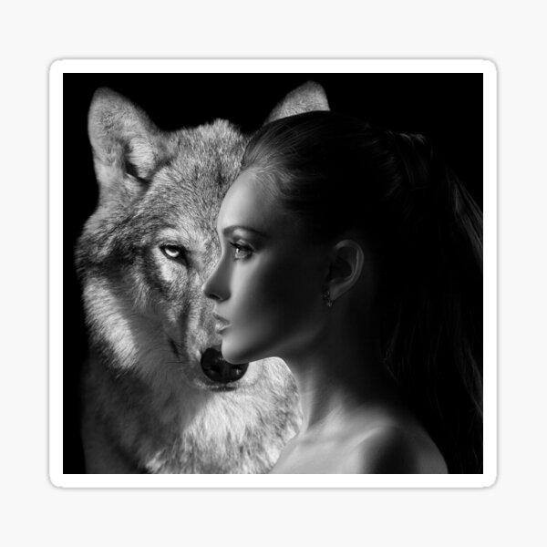Daphne and Wolf Sticker