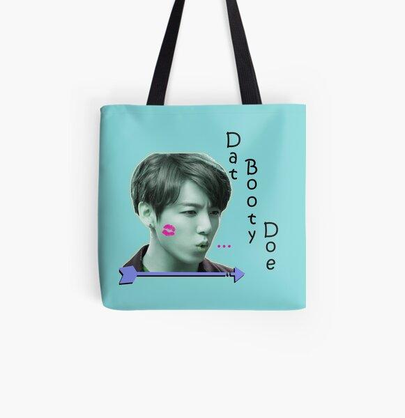 Jungkook -- Dat Booty Doe All Over Print Tote Bag