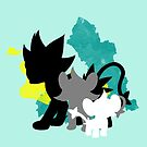 Luxray Family by WithABlackTail
