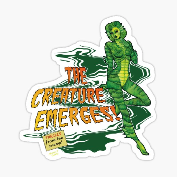 The Creature Emerges! Sticker