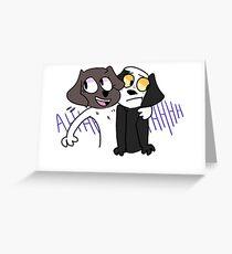 Georgia and Casper Greeting Card