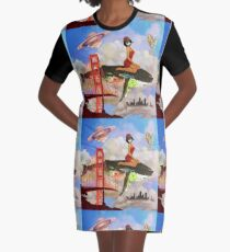 Fly in Fog Graphic T-Shirt Dress