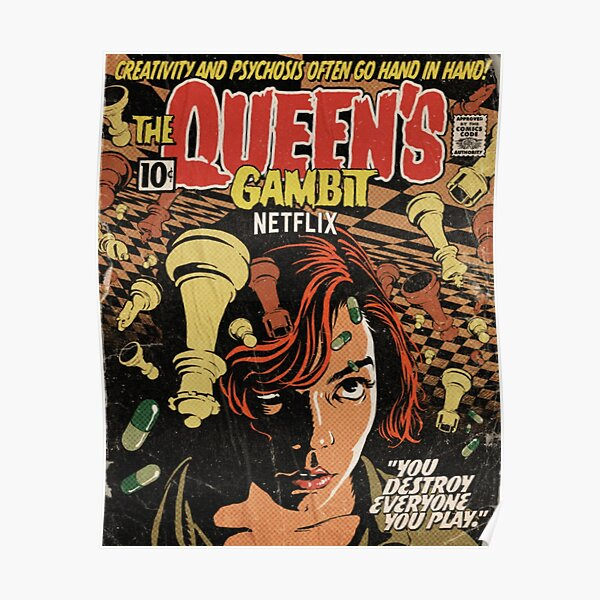 Netflix queens gambit poster Poster