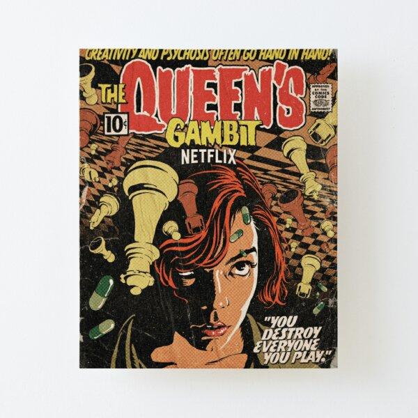 Netflix queens gambit poster Canvas Mounted Print