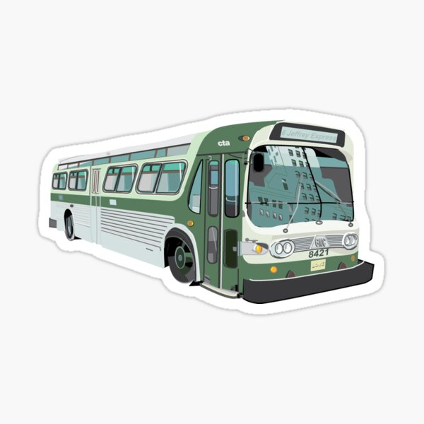 Old School CTA bus Sticker
