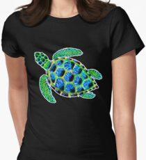 Psychedelic sea turtle in acrylic T-Shirt