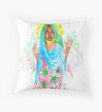Virgin Nicki Throw Pillow