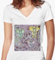Elephant Garden Women's Fitted V-Neck T-Shirt