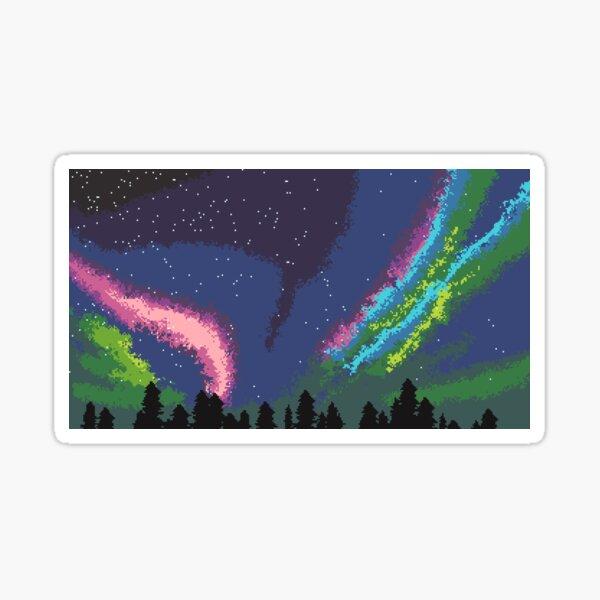 Aurora Pixels Sticker