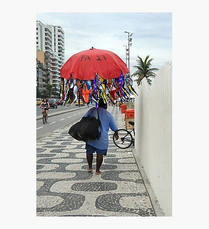 A Mobile Salesman, Rio de Janeiro Photographic Print