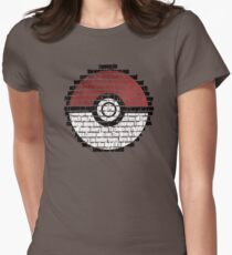 Pokeball Song typography Womens Fitted T-Shirt