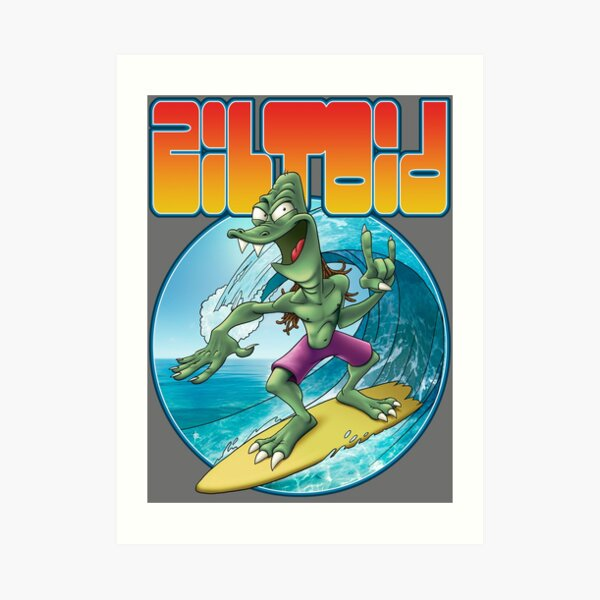 Surfing Ziltoid Art Print