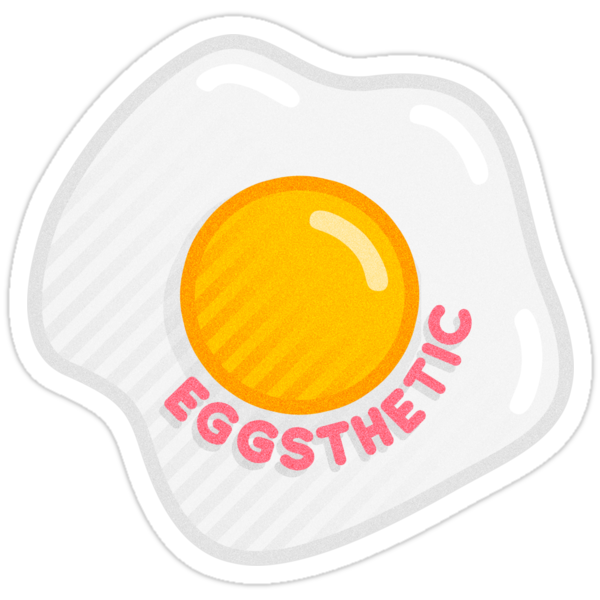 Quot Egg Sticker 1 Eggsthetic Quot Stickers By Johnpascarella