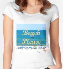 Beach Please Ocean View Women's Fitted Scoop T-Shirt