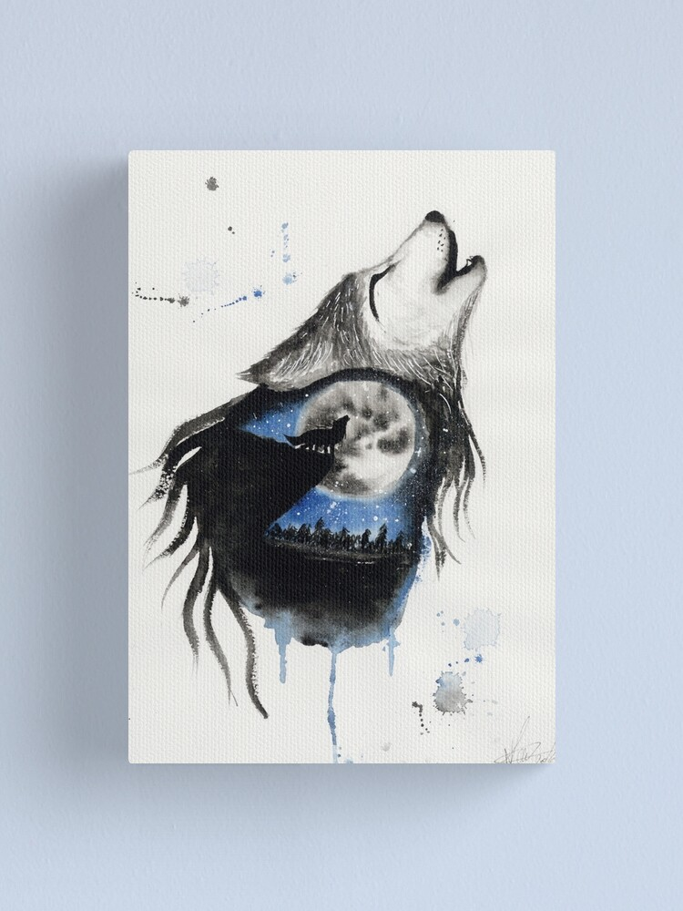 Alternate view of Moon Wolf Canvas Print