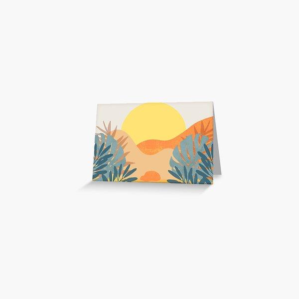 Tropical Sunset Blank Card Greeting Card
