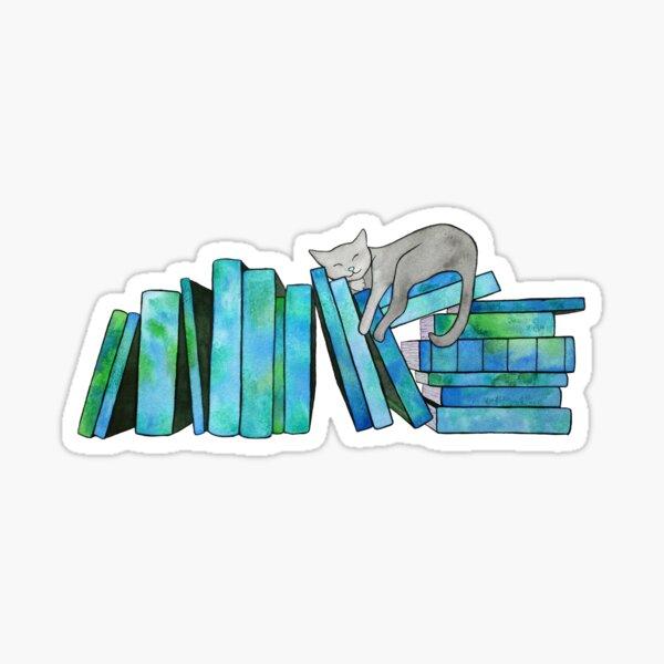 Literary Naps Blue Sticker