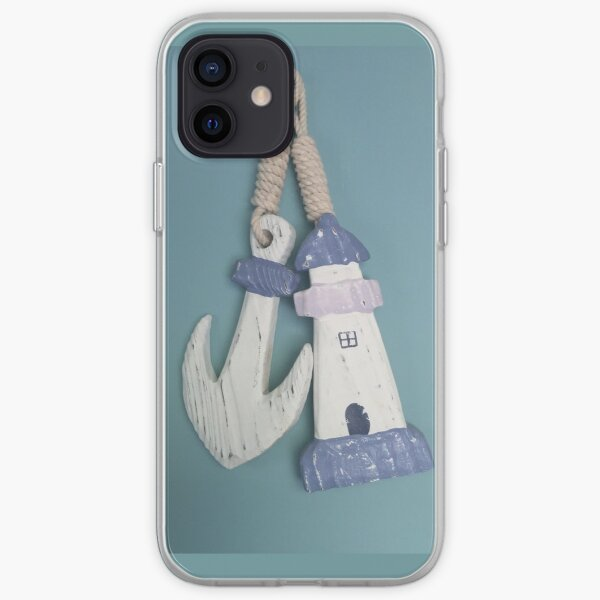 Anchor and lighthouse iPhone Soft Case