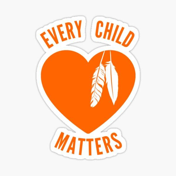 Every child matters Canada orange shirt day Sticker