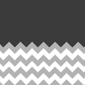Black/Grey Chevron Phone Case by emmamehus