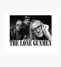 The Lone Gunmen (X-Files) Grunge Style Shirt Photographic Print