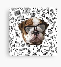 Smart Bulldog Canvas Print