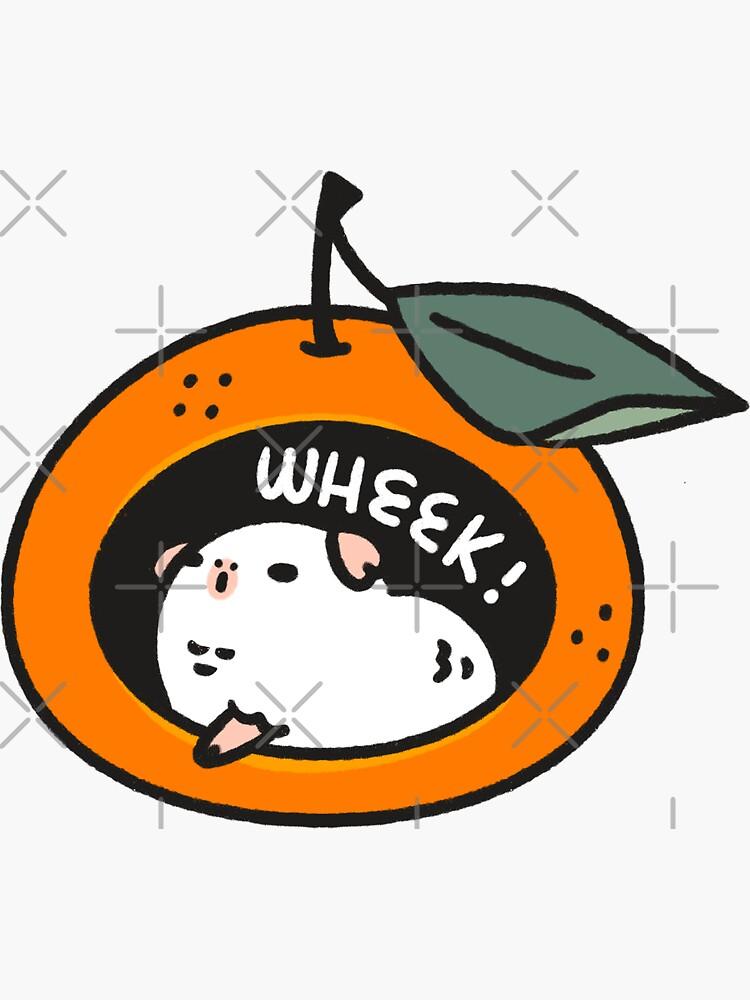 Mikan the Albino Guinea pig Wheek! by Miri-Noristudio