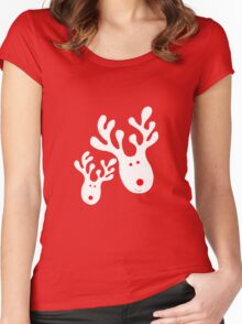 Prancer and Vixen Women's Fitted Scoop T-Shirt
