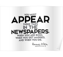 appear in the newspapers - amancio ortega gaona Poster