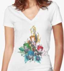 Castle crashers Women's Fitted V-Neck T-Shirt