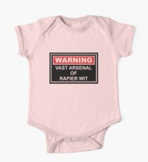 Warning: Vast Arsenal of Rapier Wit Kids Clothes
