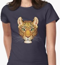 Leopard Face Women's Fitted T-Shirt