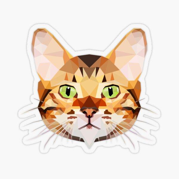 Gato de bengala Pegatina transparente