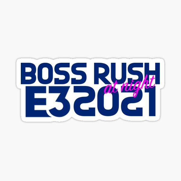 Boss Rush at Night E3 2021 White Sticker
