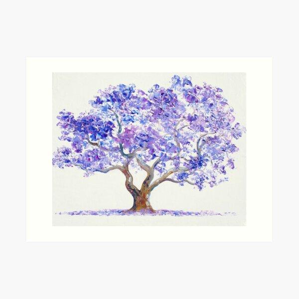 Jacaranda Tree painting Art Print