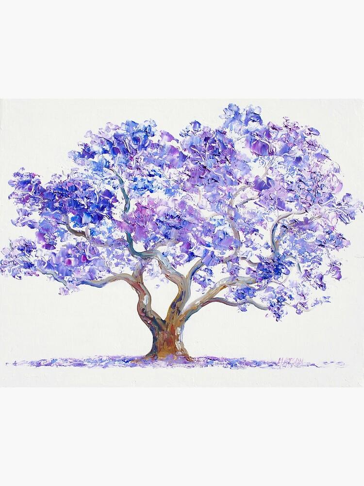 Jacaranda Tree painting by MatsonArtDesign