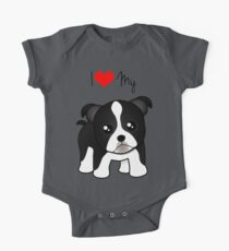 Cute Little Boston Terrier Puppy Dog Kids Clothes