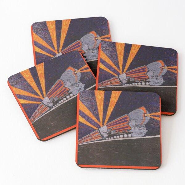 Deco Locomotive Coasters (Set of 4)