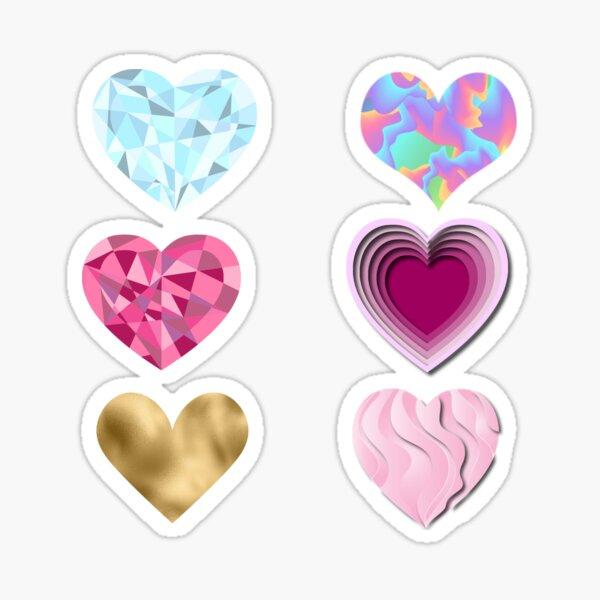 Autocollants chromés en forme de coeur Sticker