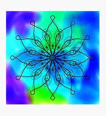 Blue and Green Mandala Photographic Print