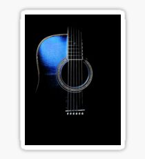 Blue Acoustic Guitar Hi-Lite Sticker