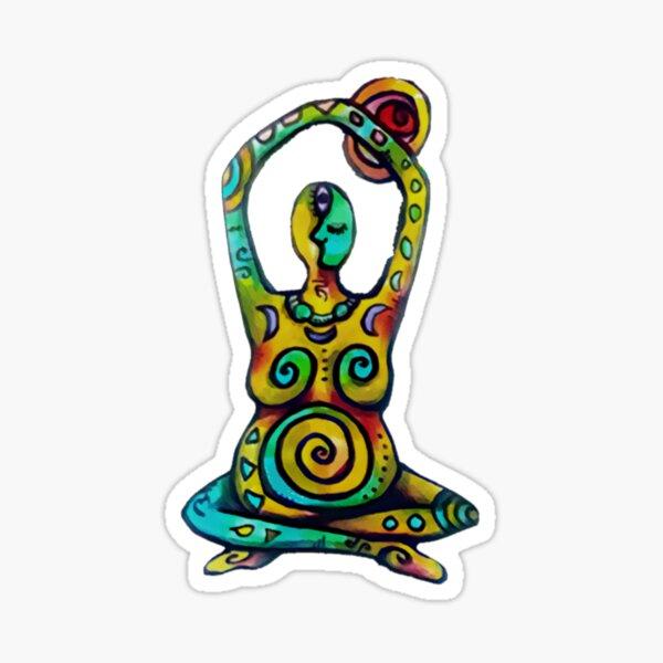 Yoga Woman Decal Sticker