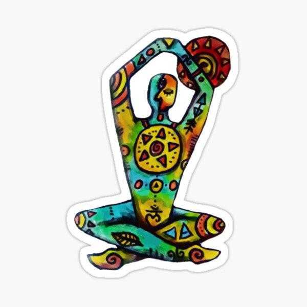 Yoga Man Decal Sticker