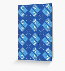 Gallifrey Argyle Greeting Card