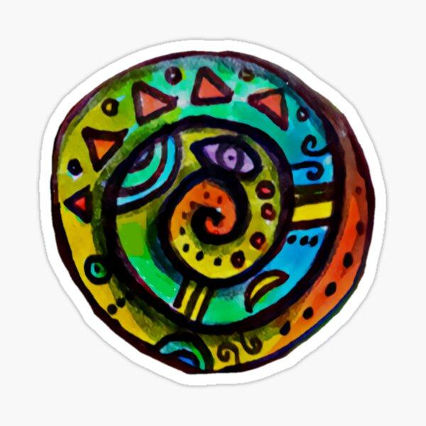 Spiral Spirit Decal (Iris Rose Art Logo) Sticker