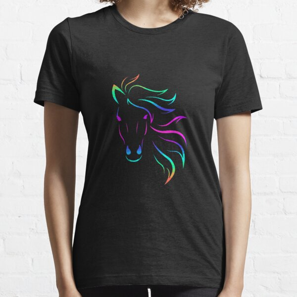 Horse Lovers Horseback Riding Equestrian Colorful Essential T-Shirt