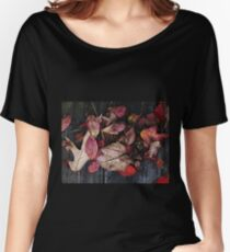 Collage Of Autumn Red Women's Relaxed Fit T-Shirt