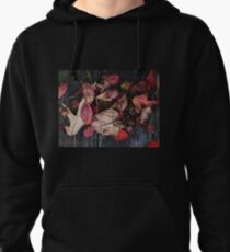 Collage Of Autumn Red Pullover Hoodie