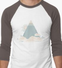 Cloud Mountain Men's Baseball ¾ T-Shirt
