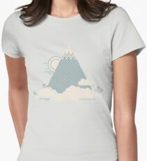 Cloud Mountain Womens Fitted T-Shirt